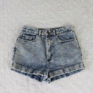 American Apparel High Rise Acid Wash Shorts